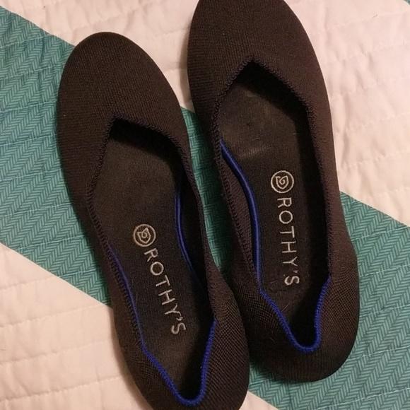 Rothys charcoal flats round toe 9.5